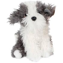 knuffelhond junior 19 cm pluche wit/grijs
