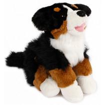 knuffel Hond junior 25 cm pluche zwart/bruin/wit
