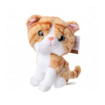 knuffel poes junior 22 cm pluche oranje/wit
