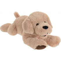 knuffel hond 20 cm bruin