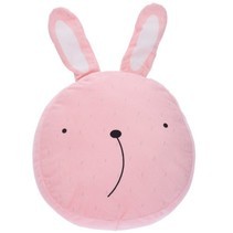 knuffelkussen konijn 33 cm roze