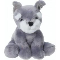 knuffelhond 14 cm grijs