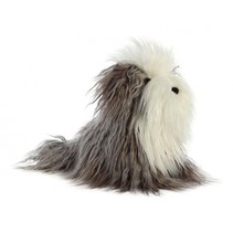 knuffelhond Finley Boutique 25,5 cm grijs/wit