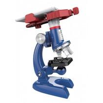 microscoop set met licht en telefoonhouder