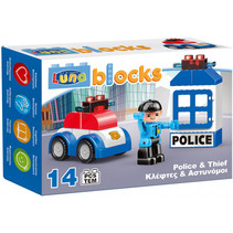 Blocks bouwset politiebureau junior 14-delig