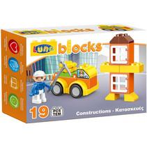 Blocks bouwset bouwplaats junior 19-delig