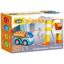 Blocks bouwset bouwplaats junior 27-delig