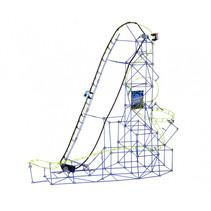 bouwpakket achtbaan Mindblown blauw/groen 753-delig