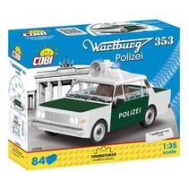 Youngtimer bouwpakket Politiewagen wit/groen 84-delig