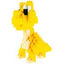 dinosaurus bouwblokken geel 35 cm