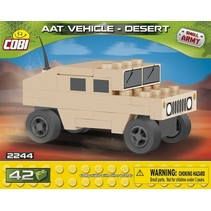 Small Army Tank Vehicle Desert bouwset 42-delig 2244
