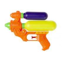 waterpistool met reservoir 18,5 cm oranje