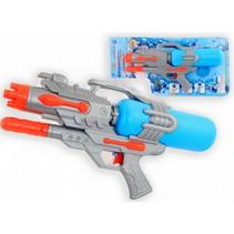 waterpistool junior 46 cm blauw/grijs