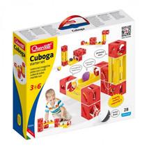knikkerbaan Cuboga Basic junior geel/rood 27-delig