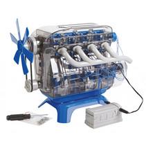 bouwmodelset Mindblown 4 cilinder motor 104-delig