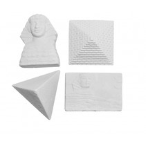 uithakstenen oude Egypte wit