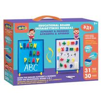 magneet- en krijtbord Educatief junior wit/blauw 66-delig