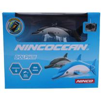 dolfijn RC junior 9 x 7,5 cm grijs 2-delig