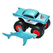 speelset truck en haai junior zwart/blauw 2-delig