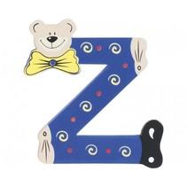 letter Z beer hout 10 cm