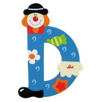 Letter D Clown 10 cm