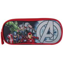 etui The Avengers 23 x 7 x 10 cm polyester zwart/rood