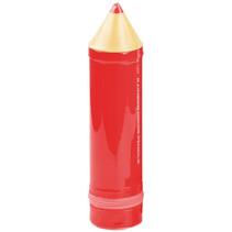 etui Pencil junior 6 x 24,5 cm rood