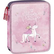 etui Princess XXL 23 x 18 cm polyester roze 34-delig