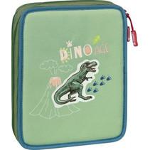 etui Dino XXL 23 x 18 cm polyester groen 34-delig