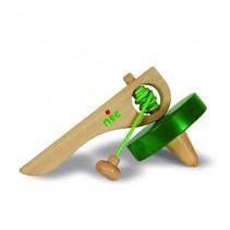 super-tol 9 cm groen hout