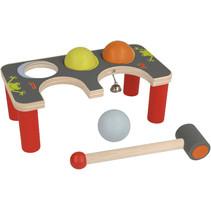 hamerbank Klop-Croquet junior 22 x 11 cm hout 5-delig