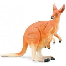 speelfiguur kangoeroe junior 12 x 9,3 cm oranje