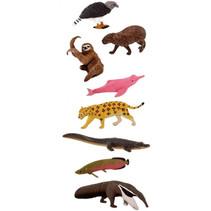 speeldierenset Zuid-Amerika junior 7,5 cm rubber 8-delig
