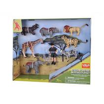 speelset Safari junior 10 x 7 cm 10-delig
