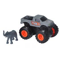speelset truck en olifant junior grijs 2-delig
