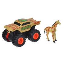 speelset truck en giraffe junior bruin 2-delig
