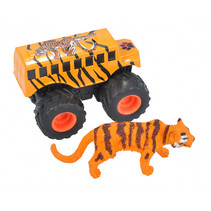 speelset truck en tijger junior oranje 2-delig