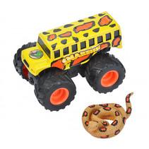 speelset truck en slang junior zwart/geel 2-delig