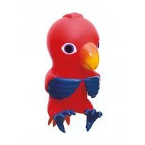 pratende papegaai 9,5 cm rood