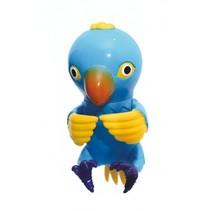 pratende papegaai 9,5 cm blauw