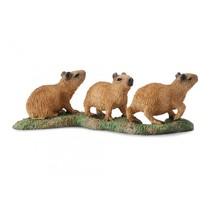 wilde dieren: waterzwijn 25 cm bruin 3 stuks