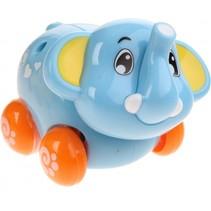 babyolifant op wielen blauw