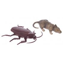 raamkruipers dieren 2 stuks 9 cm bruin