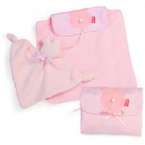 babypop-accessoires meisjes 38 cm PE roze 3-delig
