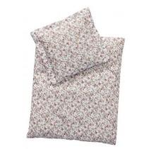 babypop beddengoed wit/roze 44x35 cm