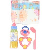 babypop verzorgingsset 6-delig roze