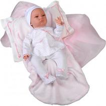 babypop Inma meisjes 44 cm vinyl/textiel roze