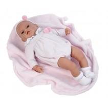 babypop Eva 50 cm met deken roze