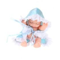 babypop Cute in bal 10 cm meisjes blauw 3-delig