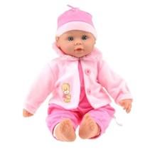 Babypop met jas 40 cm